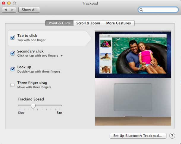 Turn on Tap to Click in Trackpad System Preferences