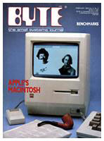 The first Macintosh on the cover of Byte magazine