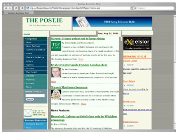 Figure 1: The Post in Safari