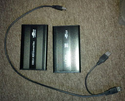 2 USB drives and a USB Y-cable