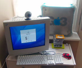 Simon's Blue & White Power Mac G3 setup