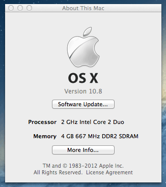 Mac OS X 10.8 Mountain Lion up and running