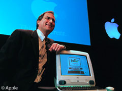 Steve Jobs introduces the original iMac