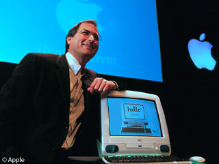 Steve Jobs unveils the original iMac