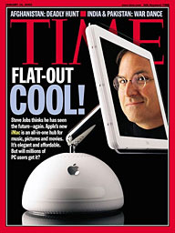 Time magazine cover with G4 iMac