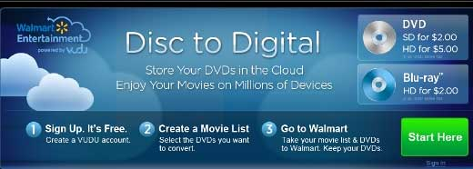 Walmart Entertainment's Disc-to-Digital program