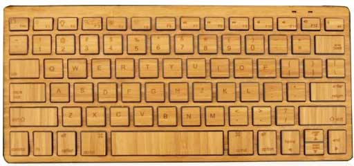 Impecca Bamboo Bluetooth Keyboard