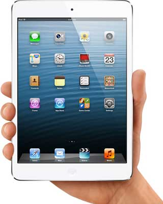 white iPad mini
