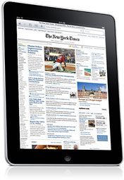 iPad with New York Times app