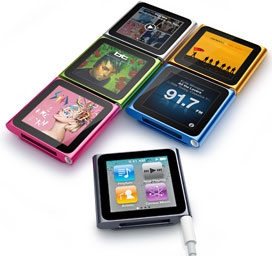 6G iPod nano with Multi-Touch