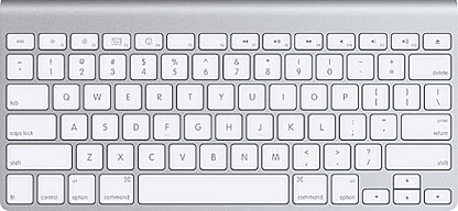 Apple's Wireless Aluminum Keyboard