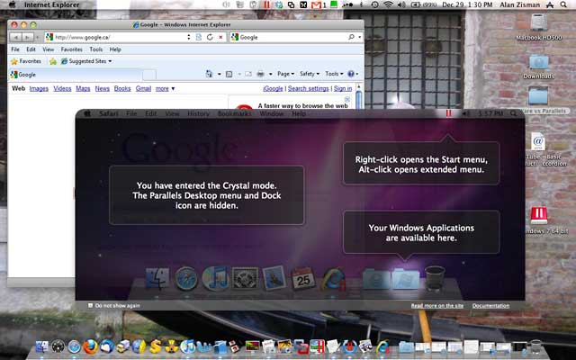 Crystal mode in Parallels Desktop 5.0