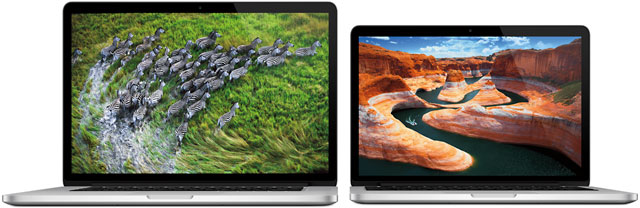 "13"" and 15"" Retina MacBook Pros"