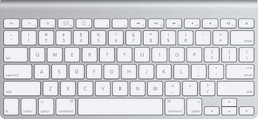wireless aluminum keyboard