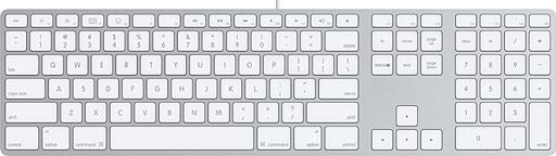 Aluminum USB 2.0 keyboard