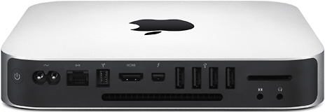 rear panel of the 2011 Mac mini