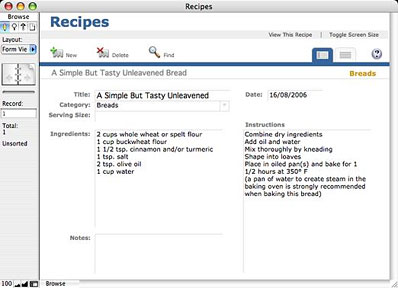 recipes database template koni polycode co