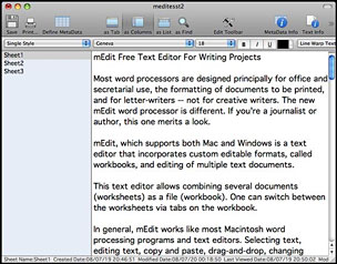 Free mEdit Text Editor Excels at Handling and Combining