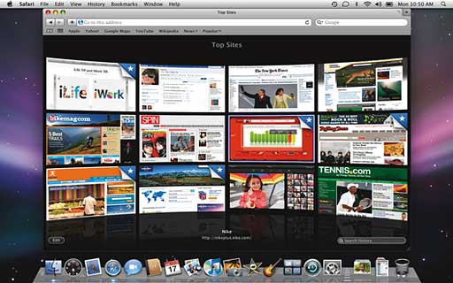 Safari's new Top Sites feature