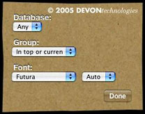DEVONsearch widget