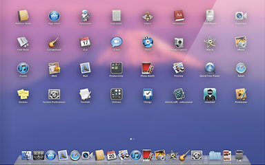 The Launchpad in OS X 10.7 Lion