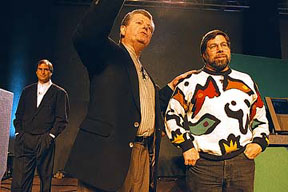 Steve Jobs, Gil Amelio, and Steve Wozniak