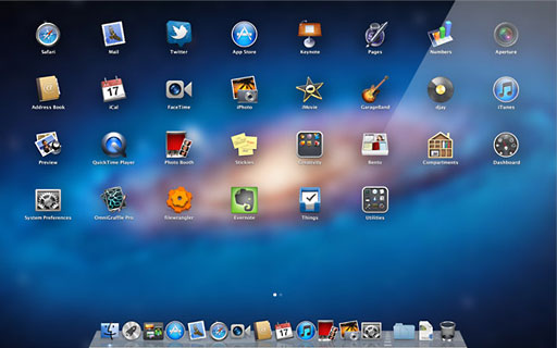 OS X 10.7 Lion introduced LaunchPad