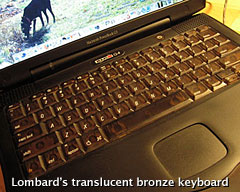 Lombard's translucent bronze keyboard