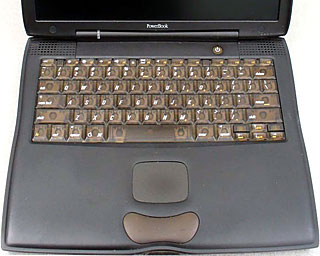 The Pismo PowerBook's keyboard