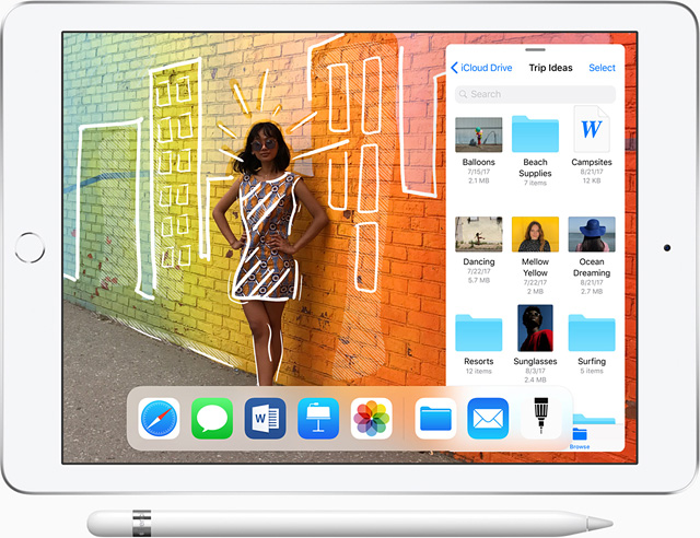 2018 iPad with Apple Pencil