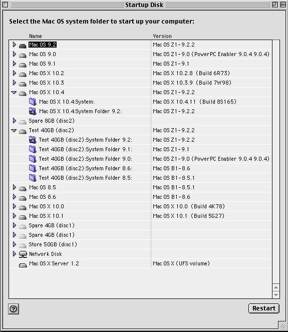 Mac OS 9.1 Startup Disk utility