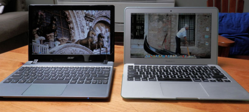 "Acer C7 Chromebook vs 11"" Macbook Air"