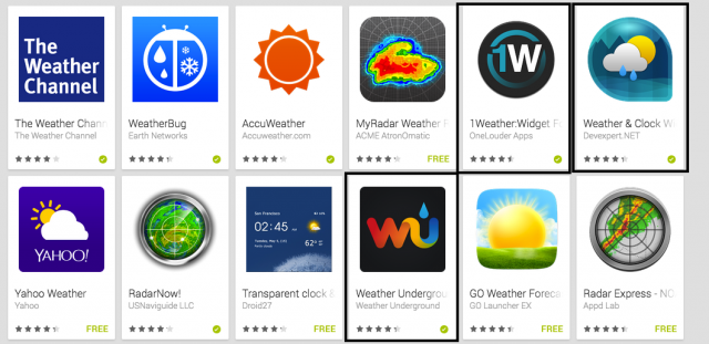 Top 12 Android Weather Apps