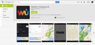 WeatherUnderground App