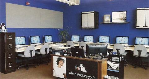21.5 inch iMacs in school computer lab