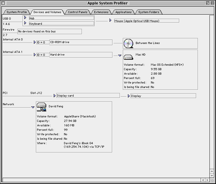 Apple System Profiler in Mac OS 9