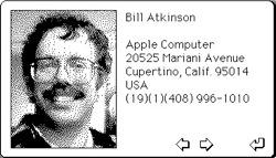 Bill Atkinson's HyperCard card