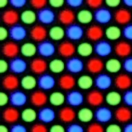 red, green, and blue pixels on a CRT computer display