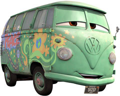Fillmore from Pixar's Cars.