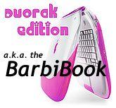 Dvorak Edition pink iBook - the BarbiBook