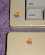 Apple logo on Extended and Extended II keyboards