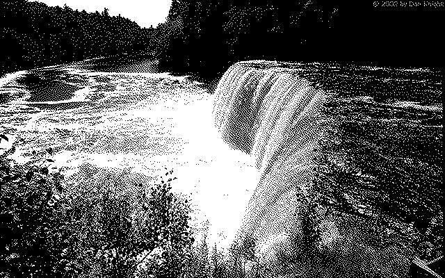 Tahquamenon Falls, 640 x 400, 1-bit