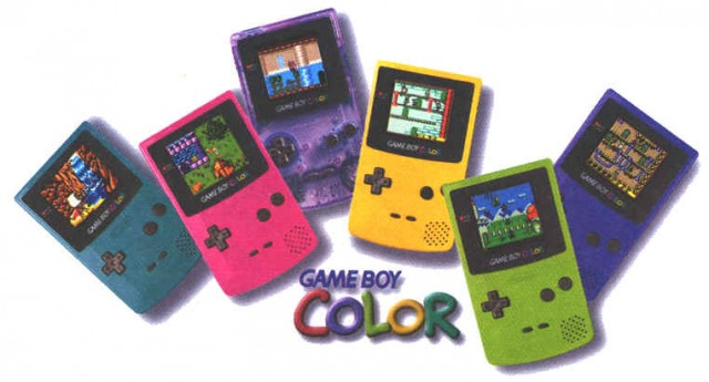 The colourful Game Boy Color range