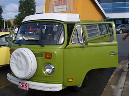 Green VW microbus