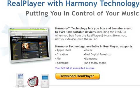 RealPlayer with Harmony Technology