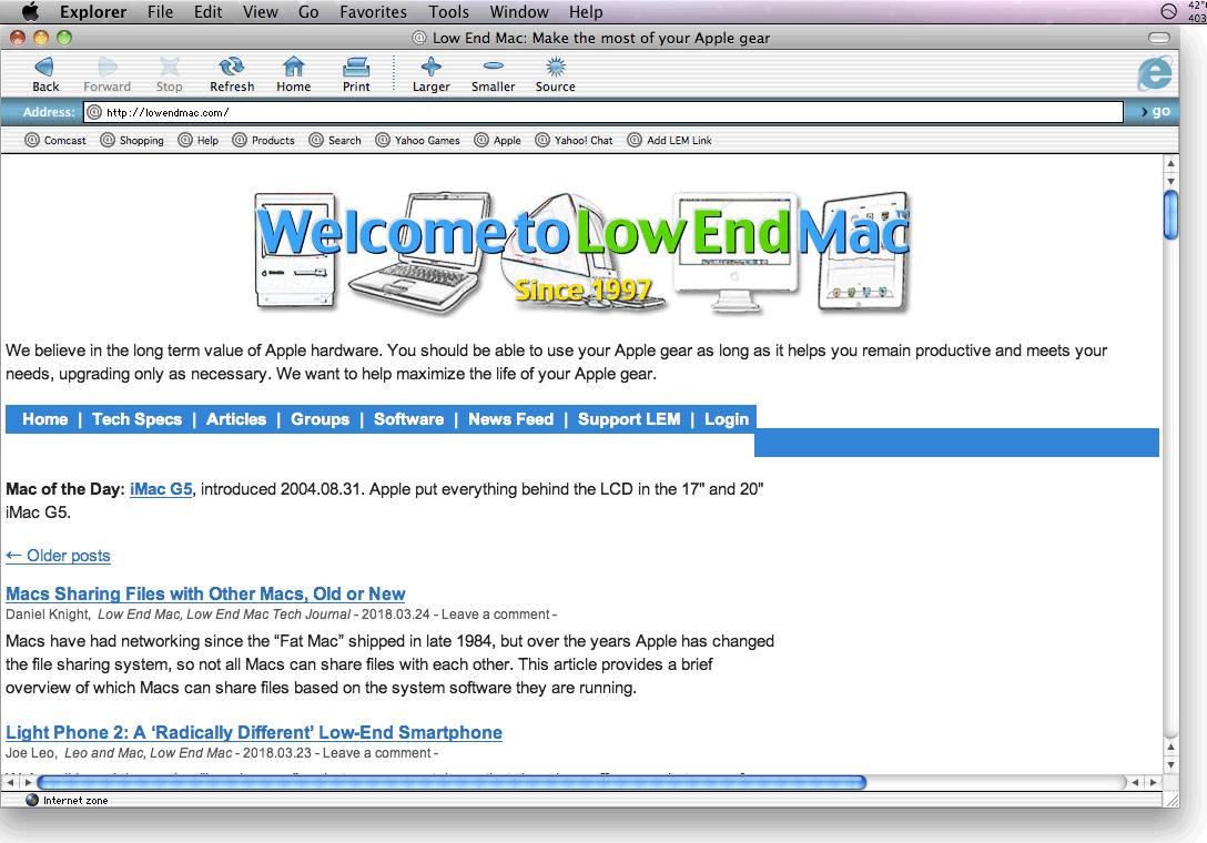 Download Internet Explorer For Mac OS X
