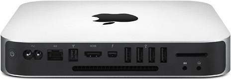 Back of 2011 Mac mini