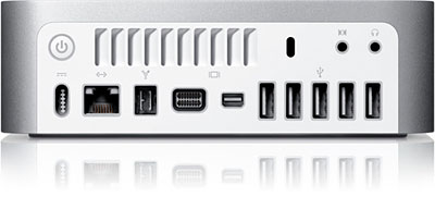Rear of 2009 Mac mini