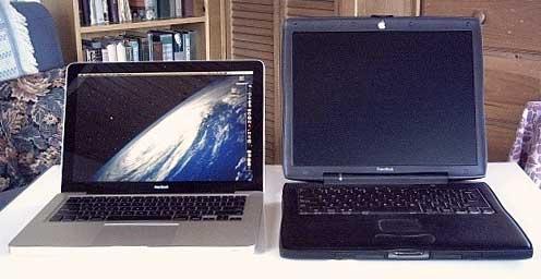 Aluminum MacBook and Pismo PowerBook