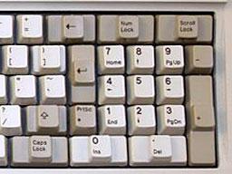 number pad onoriginal IBM PC keyboard